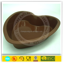 Attractive Compare Round/Rectangle/Rose flower Shape/Heart Shape handmade silicone cake molds for microwave oven