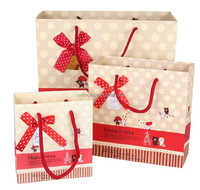 Custom ladies fashion paper shopping bags for package