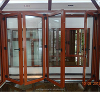 Soundproof interior temporary folding door