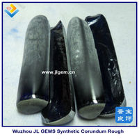 wuzhou uncut diamond Synthetic blue sapphire rough 34#
