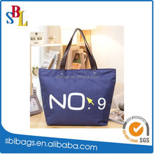 Popular promotional shopping tote bag / beach bag & zipper waterproof beach tote bag & promotional shopping bags