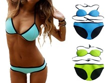 High quality super micro sexi hot bikini competition brazilian recycled neoprene spandex colorful nude women young models bikini