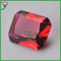 rose color rectangle octangle shape diamond cut glass semi precious stone for jewelry