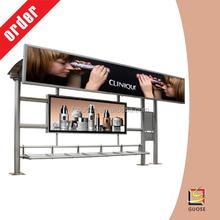 scroll type bus stop advertising billboard