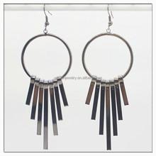 Hot sell classic alloy hoop earring chian wholesale alloy dangle earring