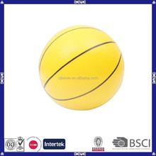 China manufacture PVC custom yellow basketball