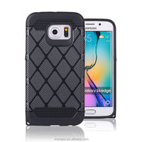 Hybrid cell phone case tpu pc 2 in 1 strong shockproof case for Samsung Galaxy S6