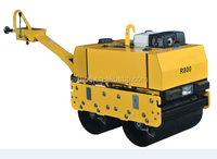 Diesel or gasoline engine Construction Machinery used walk behind road roller price