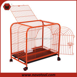 Hot Sale Painting Colorful Dog Cage With Wheels