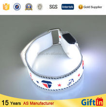 Unique products 2015 China Wholesale promotional Custom Glow In The Dark slap bracelets