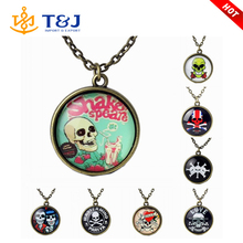 Fashion Halloween Cabochon Jewelry Vintage Choker Antique Antique Bronze Galaxy Collar Skull Statement Necklaces For Women Men