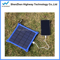 Travel smart portable charger waterproof solar panel for mobile cellphones
