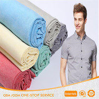 Polyester cotton TC solid color yarn dyed woven shirt fabric