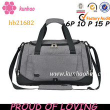 polyester fabric duffle type sport trolley luggage bag