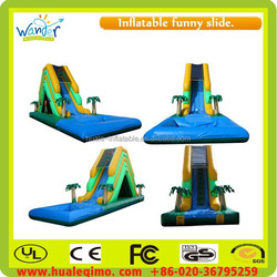 Inflatable above grounds swimming pool water slide