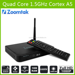 New Arrival! 2015 hottest All Aluminum case T5 XBMC quad core Aml S805 T5 android 4.4 kitkat tv box android Roofull tv box