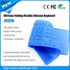 China Waterproof Foldable Silicone Rubber Keyboard
