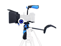 DSLR Rig 6 in 1 VCR Movie Kit Shoulder Mount for Canon Sony Panasonic Support Stand Stabiliser With Matte Box Follow Focus