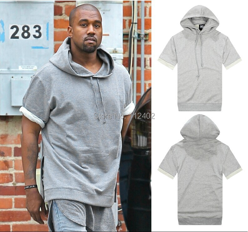 Online Cheap Wholesale Solid Color Grey Solid Color Yeezy Short ...