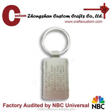 Custom shaped metal keychains/engrave key chain