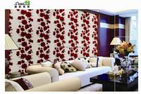 Beautiful big red rose flower wallpaper room wallpapers