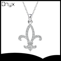 925 sterling silver pendant necklace for women with crown shaped design