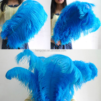 Blue ostrich feathers decoration for party supply