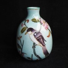 Jingdezhen Ceramic Antique Guanyao Porcelain Flower Vase