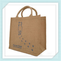 Jute bag manufacturers silk screen printing jute shopping tote bag