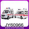Alta de metal simulación coche de rescate a escala 1:32 de fundición inyectada de camión ambulancia para niños