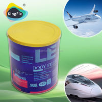 Trade Assurance Ligh weight yellow auto putty with BPO red hardener