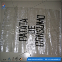 China factory transparent recycled plastic PP woven bag