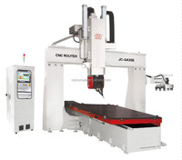 Big discount!!! 5 axis cnc machine/ 3d mould sculptures engraving machine/ 3d cnc router machine with rotary spindle