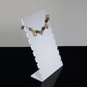 Plástico exibir jóias estande de alta qualidade para colares longos