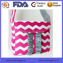 Long Strap Hobo Sling Ladies Canvas Chevron Printed Shoulder Bags For Girls