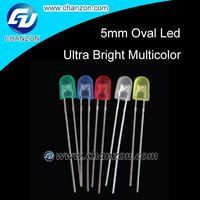 Led component diode 546 led display through hole Led Diodes free samples 5mm oval diffused led
