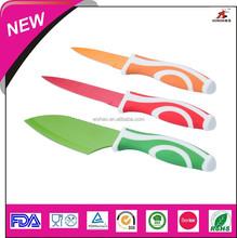 Pretty kitchen knife set 3 colorful piece knives