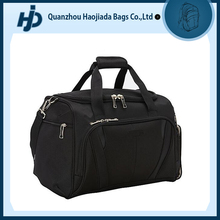 custom made weekend sport travel black nylon duffle bag