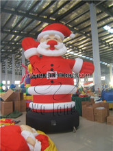christmas toys inflatable santa / santa claus for promotions activity