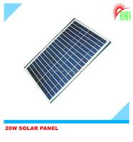 Shenzhen OEM ODM 20W 18V monocrystalline solar panel