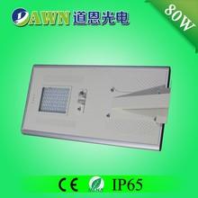 80 W alto lumen inteligente fácil instalar solar integrado alumbrado público led decking light modelos linternas