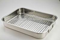 turkey baking pan with rack, roaster pan, ovenware, chicken baking pan, roasting pan