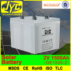 adequate quality 2v 1500ah solar rechargeable dry cell battery