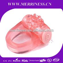 Proroga del termine per sesso eiaculazione ritardo anello vibrante, cazzo anello di cristallo anelli pene giocattolo del sesso, maschio 3 vibratore
