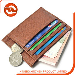 high quality 100% genuine leather credit card holder/ID card holder