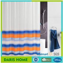 2015 100% PEVA/EVA custom printed shower curtain, striated printed shower curtain,custom printed luxury shower curtain
