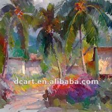 Fantasy Cocoanut Tree Impressionistic Canvas Painting
