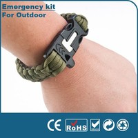 Wholesale Outdoor Camping and hiking Paracord Rope travel Emergency survival kit