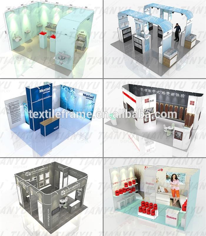 Modular Aluminum Custom 6x6m Trade Show Display Booth_11