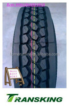 China All Steel Radial Truck Tire 285/75R24.5 16PR TRANSKING Brand drive position